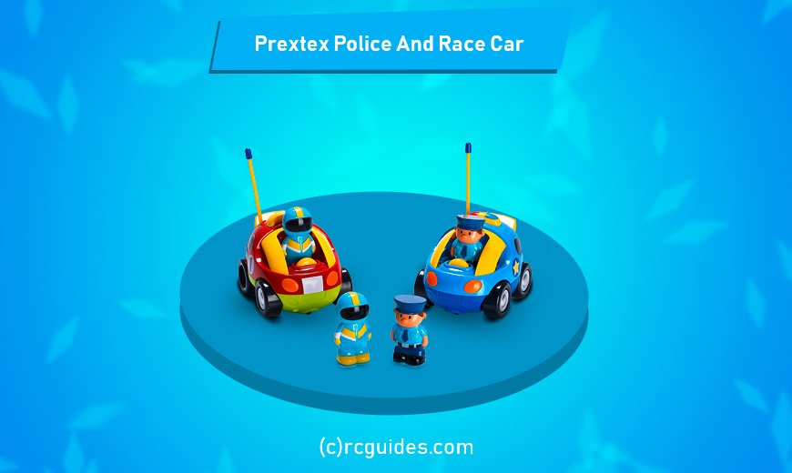 Prextex Cartoon police car for toddlers