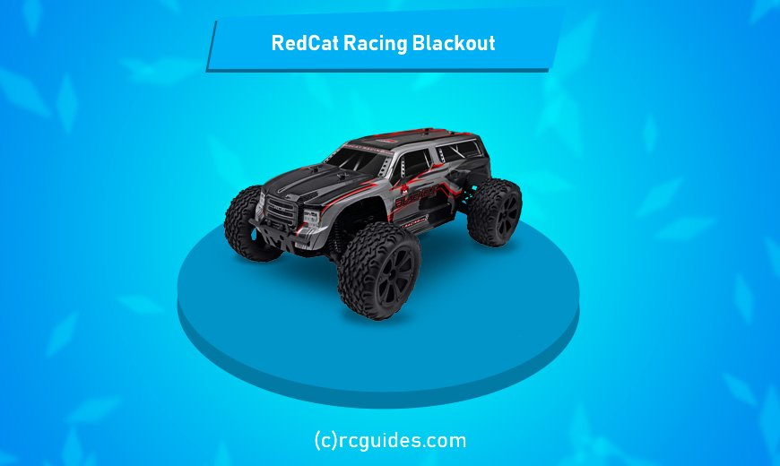 RedCat racing blackout huge rc monster truck with anti-skid tires.