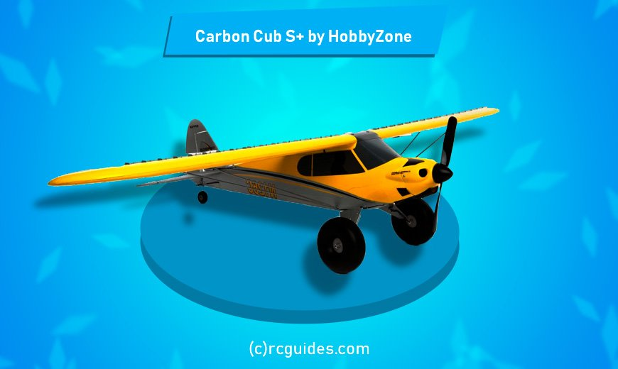 Carbon Cub S+ Foam rc plane.