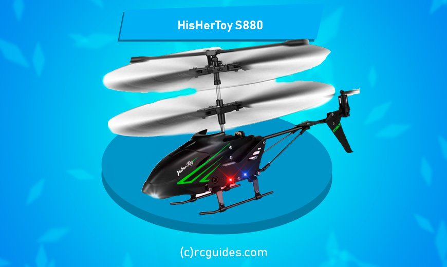 HisHer toy rc helicopter with led-lights.