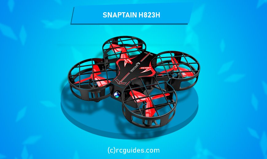 snaptain h823 red black indoor qudrocopter