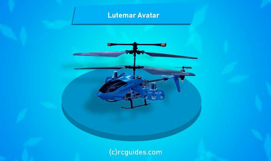 lutermar avatar tiny blue helicopter for kids