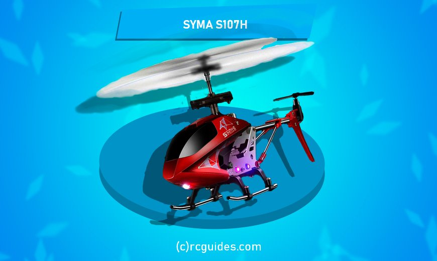 Syma S107H red rc helicopter with led lights.