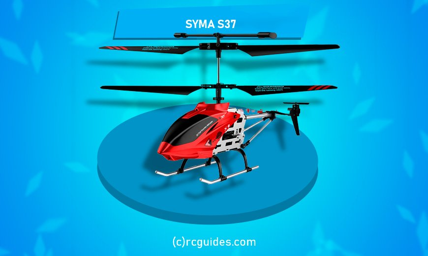 Syma S37 red tiny rc helicopter.