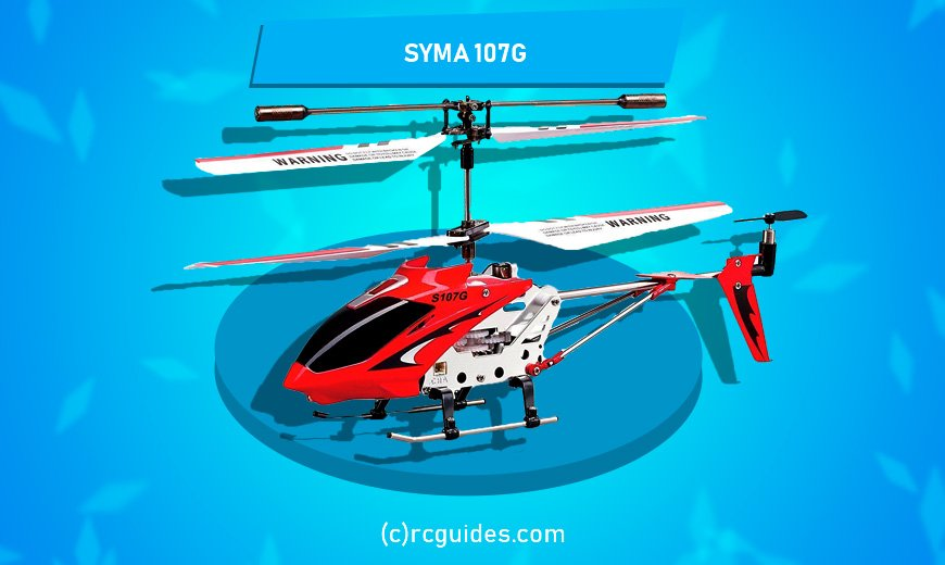 Syma 107 RC red-white cheap helicopter.