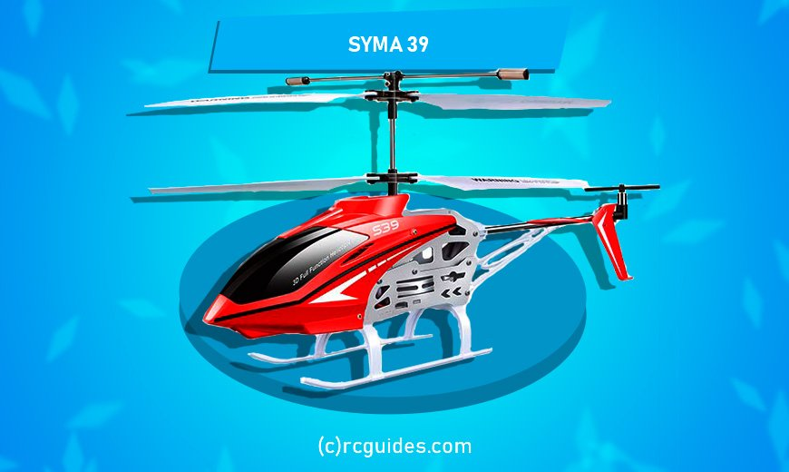 Syma S39 red-white helicopter.