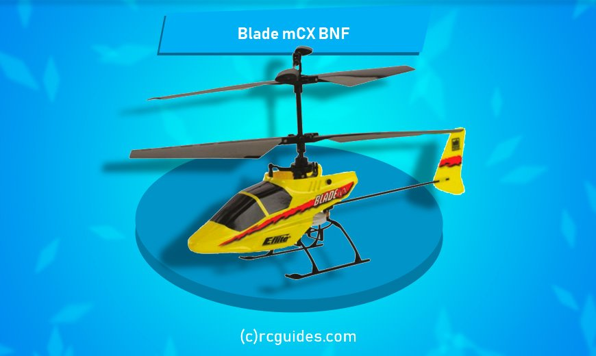 Yellow Blade mCX BNF rc helicopter.