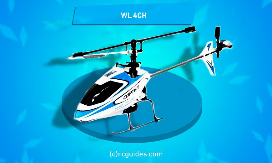 WL-4CH white cheap rc helicopter.