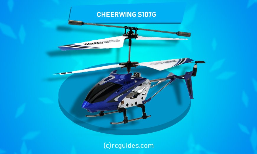 Cheerwing S107G blue fast and light rc helicopter.
