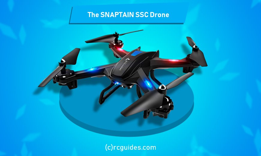 snaptain ssc drone with led lights.
