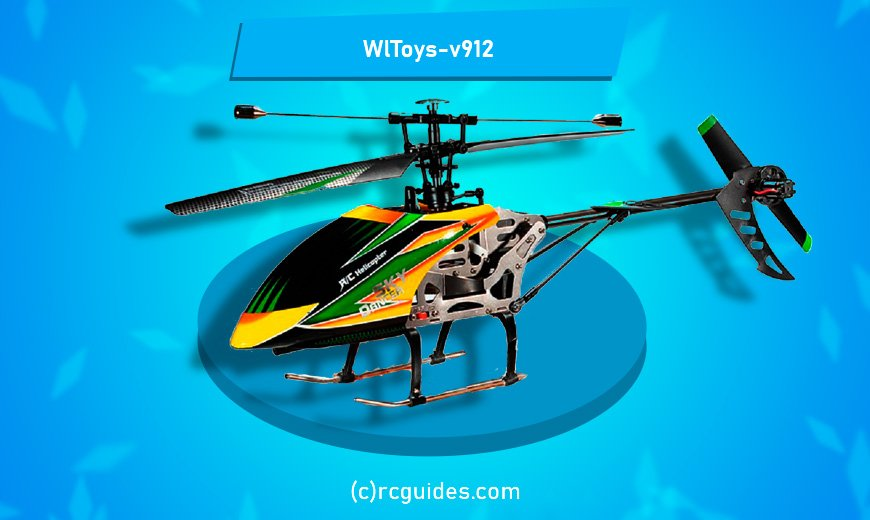 WlToys v912 colorful rc helicopter.