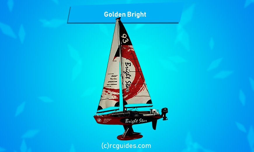 Golden Briht small rc sailboat.
