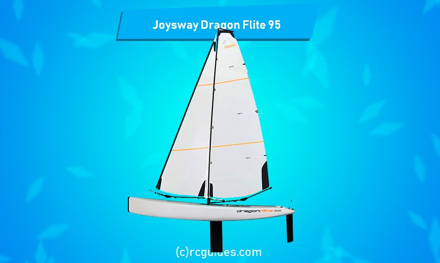 Joysway Dragon Flite 95 all white rc sailboat.