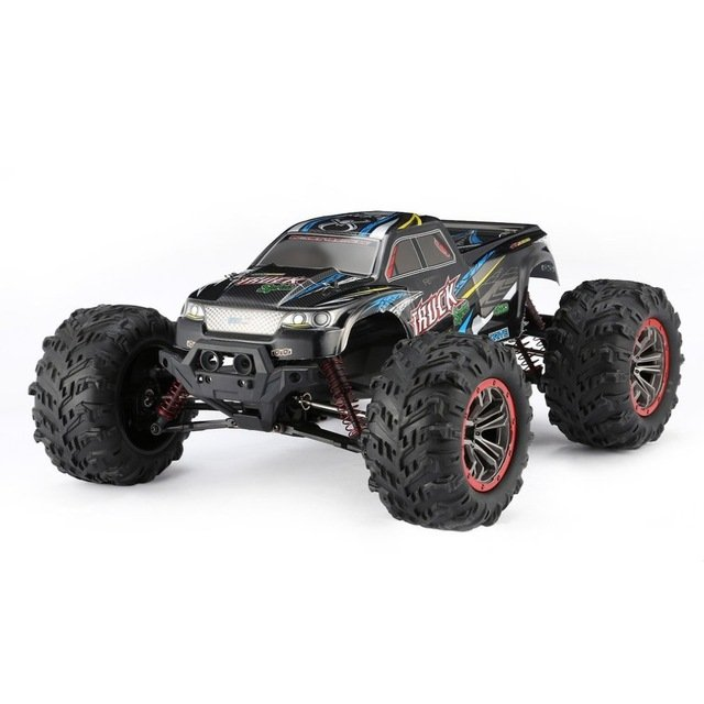 Hosim Large Size 1:10 Scale High Speed 46km/h 4WD 2.4Ghz Remote Control Truck 9125,Radio Controlled Off-road RC Car Electronic Monster Truck R/C RTR Hobby Grade Cross-country Car (Black) review