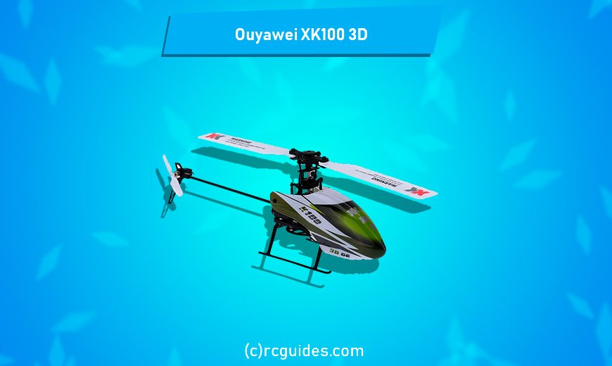 Ouywei XK100 3D small and quick green indoor rc helicopter.