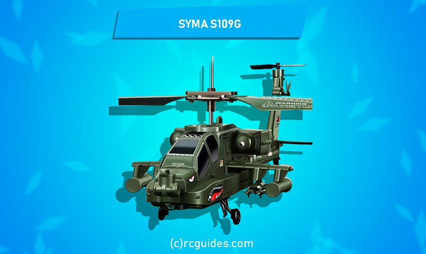 Syma S109 G medium outdoor military rc helicopter.
