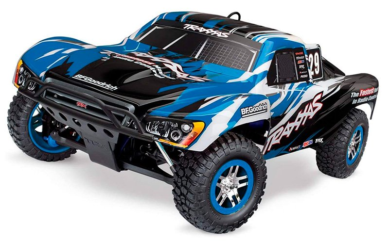 Traxxas 59076-3-BLUE Slayer Pro 4x4 Blue TRX 3.3 Engine w/EZ-Start 2 Speed Tran review