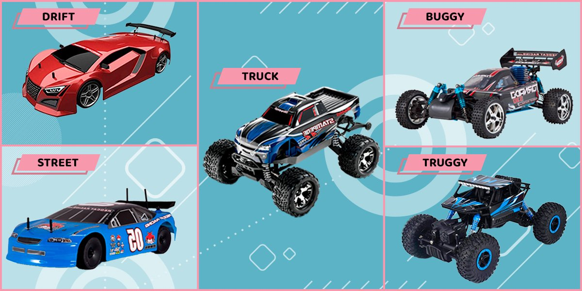 All types of rc cars.
