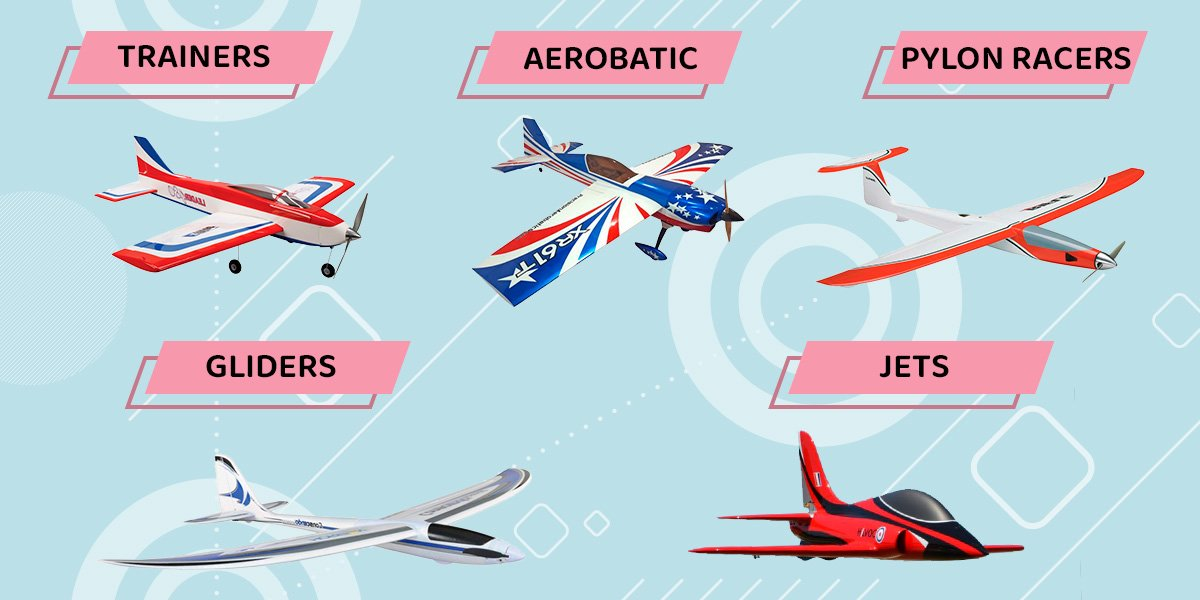 All types of rc planes.