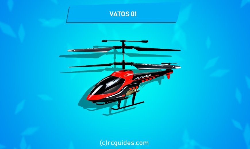 Vatos 01 amazing red rc helicopter.