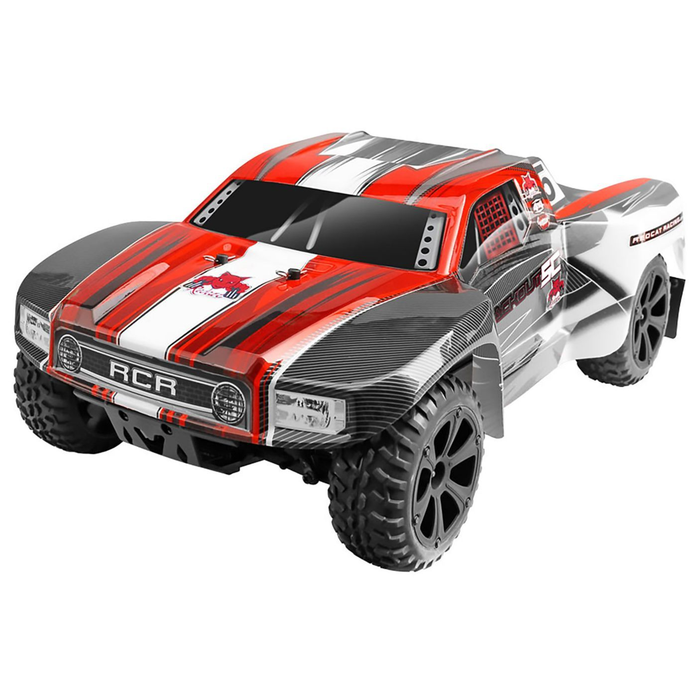 Redcat Racing Blackout SC 1/10 Scale Electric Short Course Truck with Waterproof Electronics Vehicle, Blue review