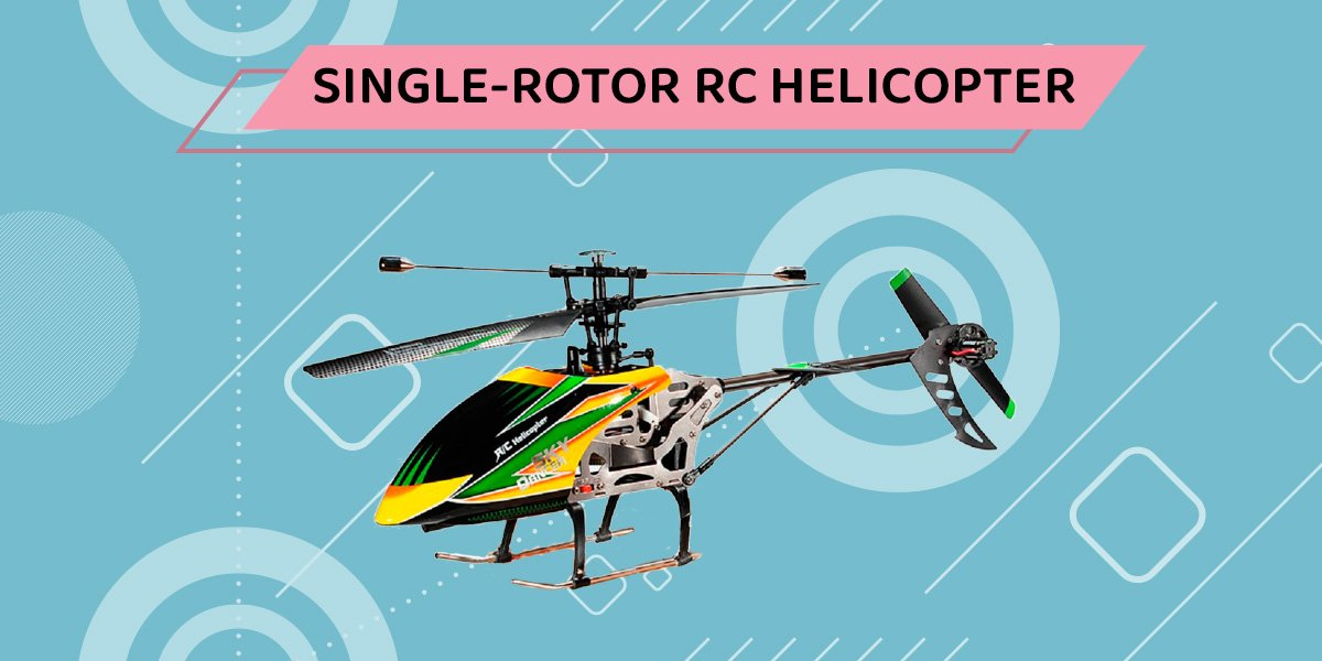 Single rotor rc helicopter.