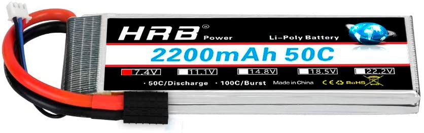 HRB 2S LiPo Battery with Soft Case